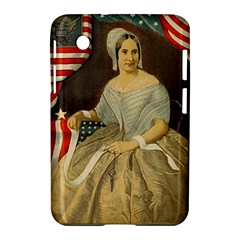 Betsy Ross Author of The First American Flag and Seal Patriotic USA Vintage Portrait Samsung Galaxy Tab 2 (7 ) P3100 Hardshell Case