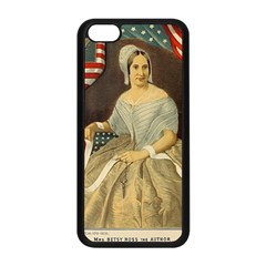 Betsy Ross Author of The First American Flag and Seal Patriotic USA Vintage Portrait Apple iPhone 5C Seamless Case (Black)