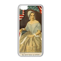 Betsy Ross Author of The First American Flag and Seal Patriotic USA Vintage Portrait Apple iPhone 5C Seamless Case (White)