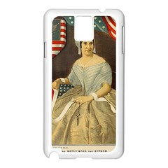 Betsy Ross Author of The First American Flag and Seal Patriotic USA Vintage Portrait Samsung Galaxy Note 3 N9005 Case (White)