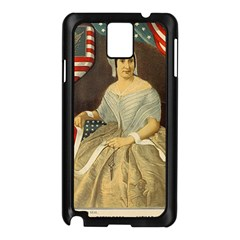 Betsy Ross Author of The First American Flag and Seal Patriotic USA Vintage Portrait Samsung Galaxy Note 3 N9005 Case (Black)