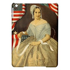 Betsy Ross Author of The First American Flag and Seal Patriotic USA Vintage Portrait iPad Air Hardshell Cases