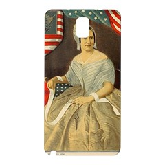 Betsy Ross Author of The First American Flag and Seal Patriotic USA Vintage Portrait Samsung Galaxy Note 3 N9005 Hardshell Back Case