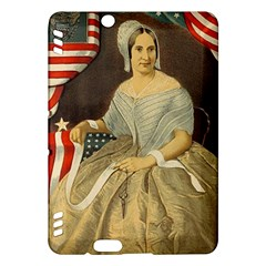 Betsy Ross Author of The First American Flag and Seal Patriotic USA Vintage Portrait Kindle Fire HDX Hardshell Case