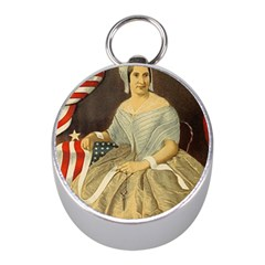 Betsy Ross Author of The First American Flag and Seal Patriotic USA Vintage Portrait Mini Silver Compasses