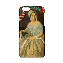 Betsy Ross Author of The First American Flag and Seal Patriotic USA Vintage Portrait Apple iPhone 6/6S Hardshell Case