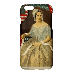 Betsy Ross Author of The First American Flag and Seal Patriotic USA Vintage Portrait Apple iPhone 6 Plus/6S Plus Hardshell Case