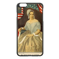 Betsy Ross Author of The First American Flag and Seal Patriotic USA Vintage Portrait Apple iPhone 6 Plus/6S Plus Black Enamel Case