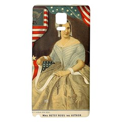 Betsy Ross Author of The First American Flag and Seal Patriotic USA Vintage Portrait Galaxy Note 4 Back Case