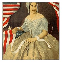 Betsy Ross Author of The First American Flag and Seal Patriotic USA Vintage Portrait Large Satin Scarf (Square)