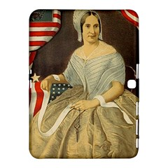 Betsy Ross Author of The First American Flag and Seal Patriotic USA Vintage Portrait Samsung Galaxy Tab 4 (10.1 ) Hardshell Case