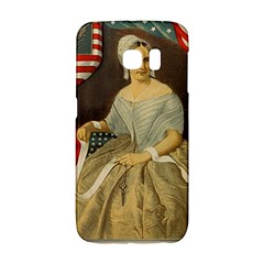 Betsy Ross Author of The First American Flag and Seal Patriotic USA Vintage Portrait Galaxy S6 Edge