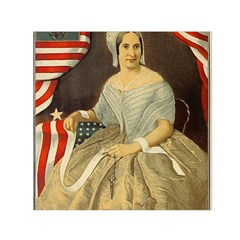 Betsy Ross Author of The First American Flag and Seal Patriotic USA Vintage Portrait Small Satin Scarf (Square)