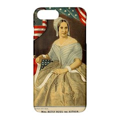 Betsy Ross Author Of The First American Flag And Seal Patriotic Usa Vintage Portrait Apple Iphone 7 Plus Hardshell Case