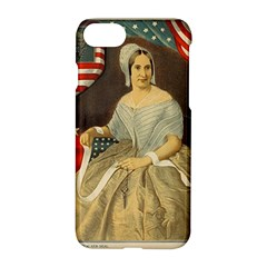 Betsy Ross Author of The First American Flag and Seal Patriotic USA Vintage Portrait Apple iPhone 7 Hardshell Case