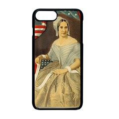 Betsy Ross Author of The First American Flag and Seal Patriotic USA Vintage Portrait Apple iPhone 7 Plus Seamless Case (Black)