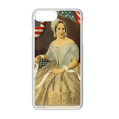 Betsy Ross Author Of The First American Flag And Seal Patriotic Usa Vintage Portrait Apple Iphone 7 Plus White Seamless Case