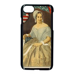 Betsy Ross Author of The First American Flag and Seal Patriotic USA Vintage Portrait Apple iPhone 7 Seamless Case (Black)
