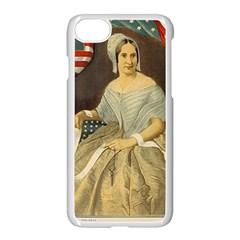 Betsy Ross Author of The First American Flag and Seal Patriotic USA Vintage Portrait Apple iPhone 7 Seamless Case (White)