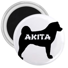 Akita Name Silo 3  Magnets