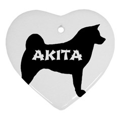 Akita Name Silo Ornament (Heart)