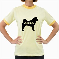 Akita Name Silo Women s Fitted Ringer T-Shirts