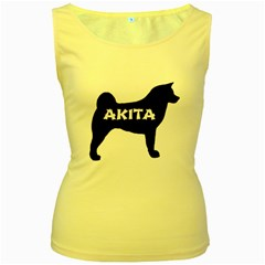 Akita Name Silo Women s Yellow Tank Top