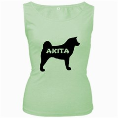 Akita Name Silo Women s Green Tank Top