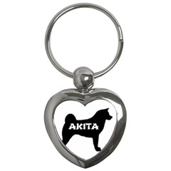Akita Name Silo Key Chains (Heart)