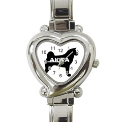 Akita Name Silo Heart Italian Charm Watch