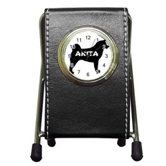 Akita Name Silo Pen Holder Desk Clocks