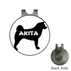 Akita Name Silo Hat Clips with Golf Markers