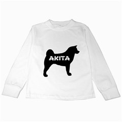 Akita Name Silo Kids Long Sleeve T-Shirts