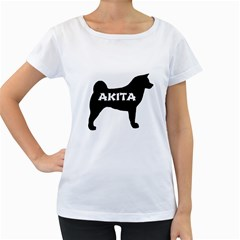 Akita Name Silo Women s Loose-Fit T-Shirt (White)