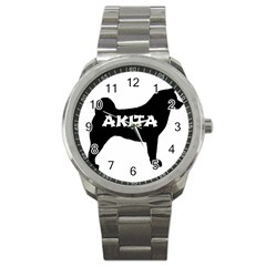 Akita Name Silo Sport Metal Watch