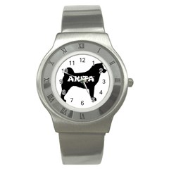 Akita Name Silo Stainless Steel Watch
