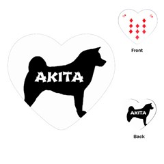 Akita Name Silo Playing Cards (Heart)