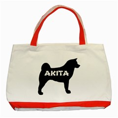 Akita Name Silo Classic Tote Bag (Red)