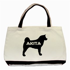 Akita Name Silo Basic Tote Bag (Two Sides)