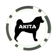 Akita Name Silo Poker Chip Card Guard