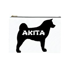 Akita Name Silo Cosmetic Bag (Large)