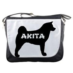Akita Name Silo Messenger Bags