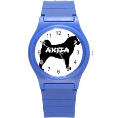 Akita Name Silo Round Plastic Sport Watch (S)
