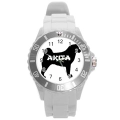 Akita Name Silo Round Plastic Sport Watch (L)