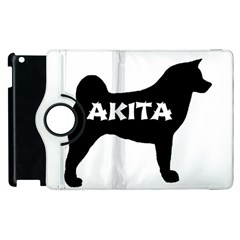 Akita Name Silo Apple iPad 3/4 Flip 360 Case