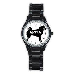 Akita Name Silo Stainless Steel Round Watch