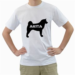 Akita Name Silo Men s T-Shirt (White)