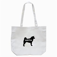 Akita Name Silo Tote Bag (White)