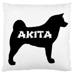 Akita Name Silo Large Flano Cushion Case (One Side)