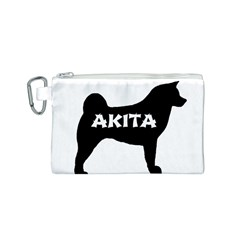 Akita Name Silo Canvas Cosmetic Bag (S)
